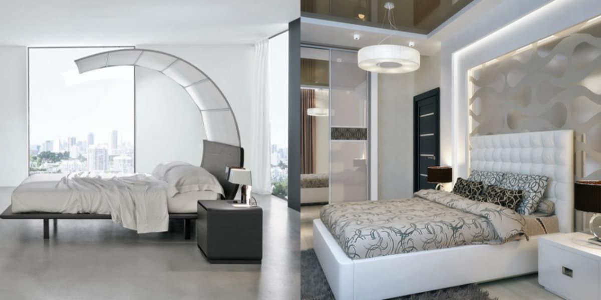 Спальня в стиле Модерн: оригиналльные кровати