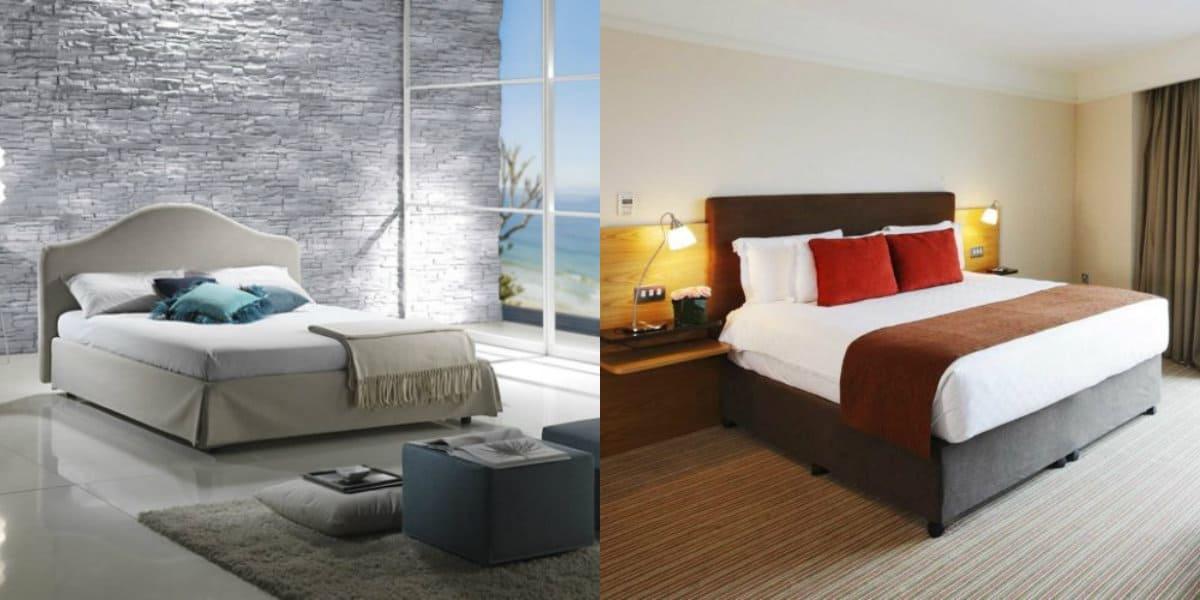 Спальня в стиле Модерн: отделка стен