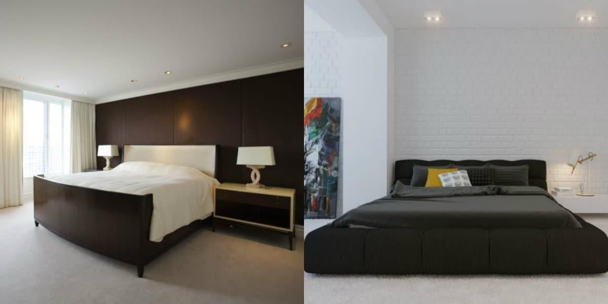 Спальня в стиле минимализм: отделка стен