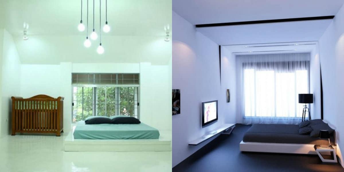Спальня в стиле минимализм: освещение