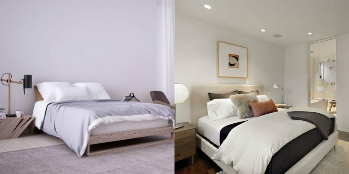 Спальня в стиле минимализм: текстиль