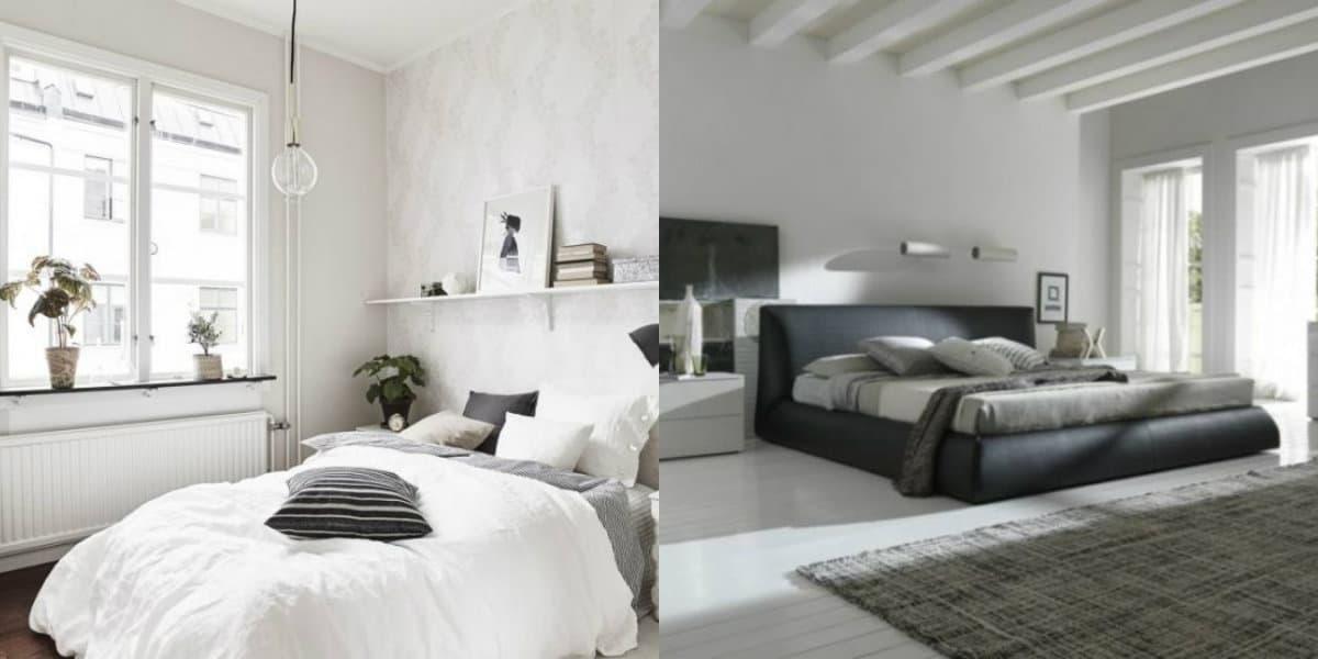 Спальня в стиле минимализм: шторы