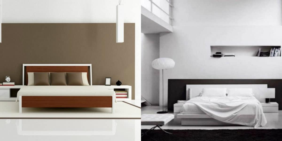Спальня в стиле минимализм: большая кровать