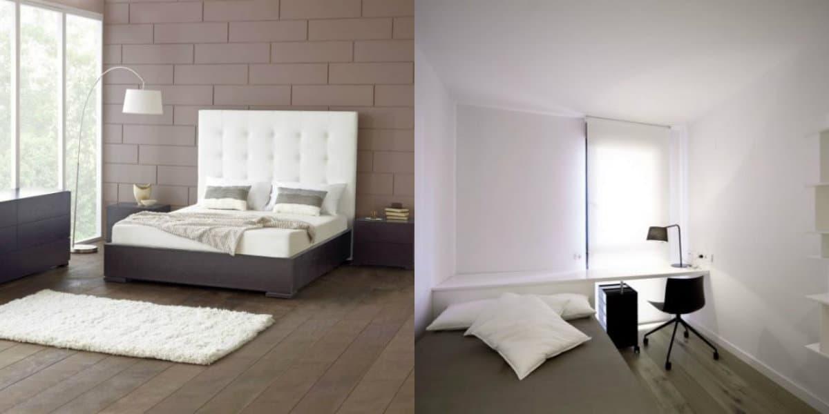 Спальня в стиле минимализм: минимум мебели