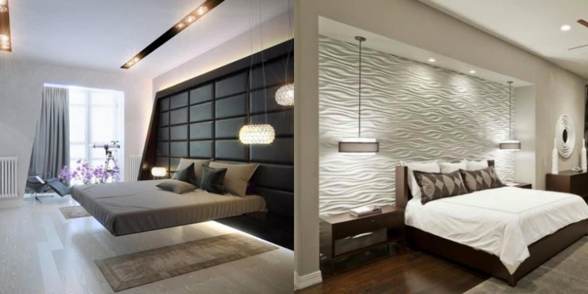 Спальня в стиле хай тек: кровать