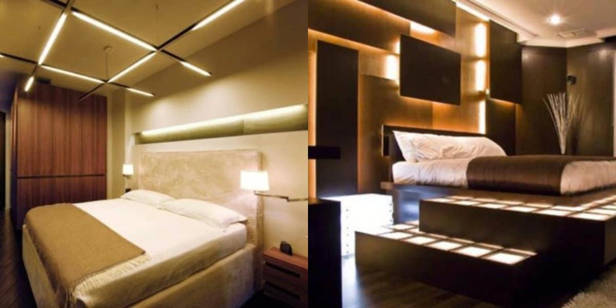 Спальня в стиле хай тек: коричневая гамма