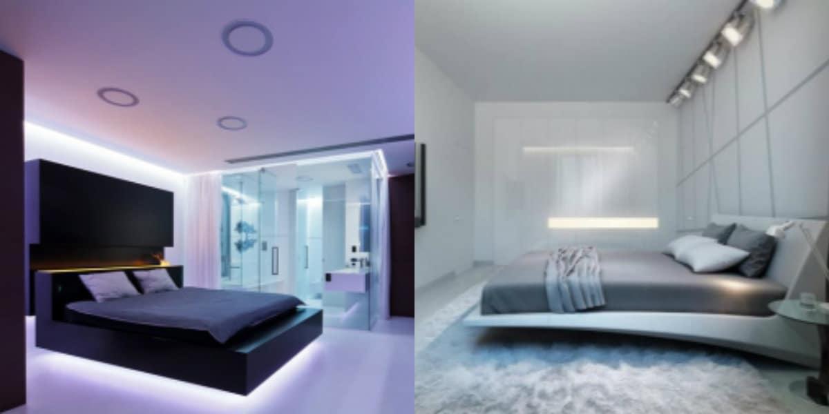 Спальня в стиле хай тек: цветовое оформление