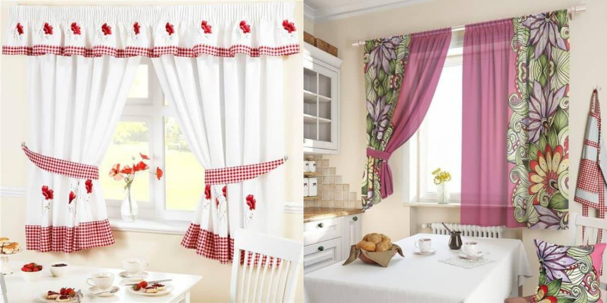 Шторы в деревенском стиле: шторы для кухни