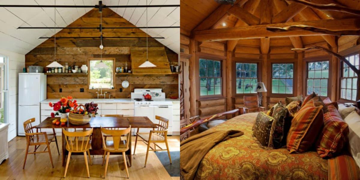 Дома в стиле Кантри: деревенский интерьер