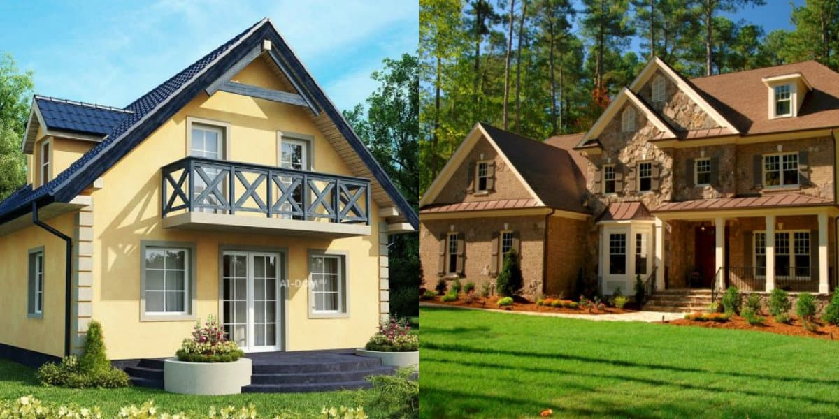Дома в стиле Кантри: дома в разных стилях