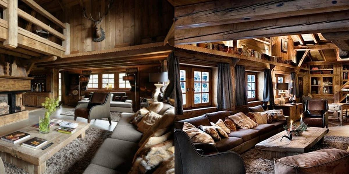 Дома в стиле Кантри: интерьер Шале