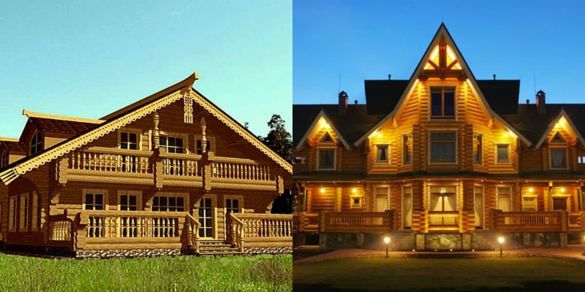 Дома в стиле Кантри: деревянные дома