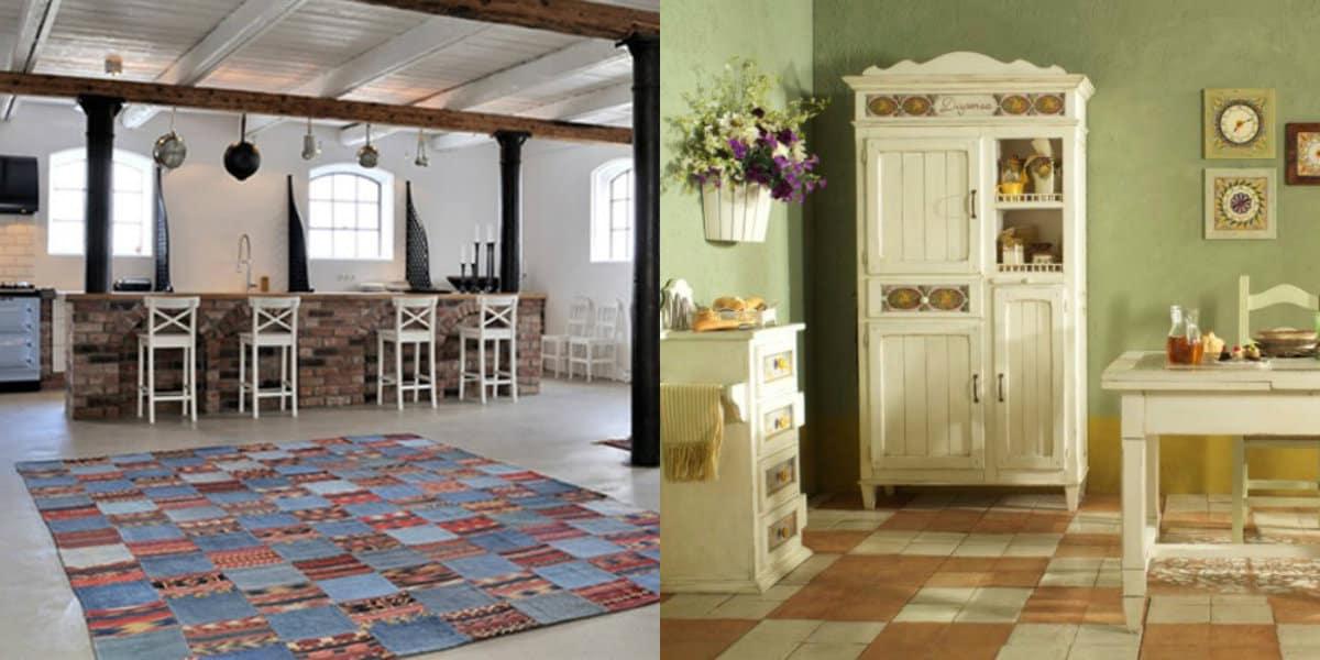 Интерьер в стиле Кантри : деревенская столовая