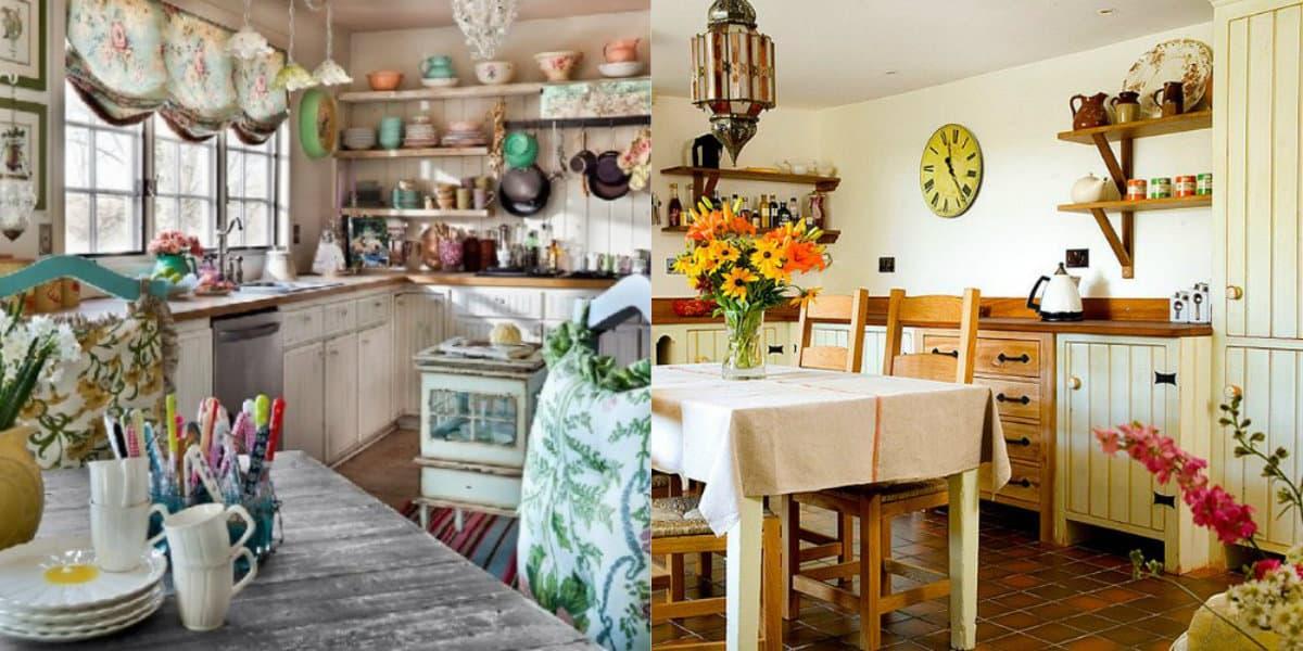 Интерьер в стиле Кантри : деревенская кухня