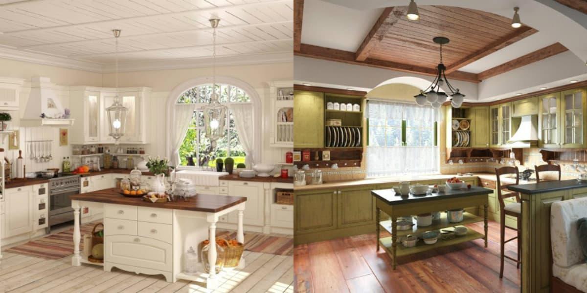 Интерьер в стиле Кантри : кухня