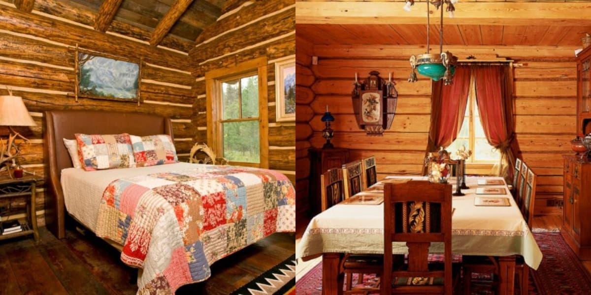 Интерьер в стиле Кантри Л русская спальня
