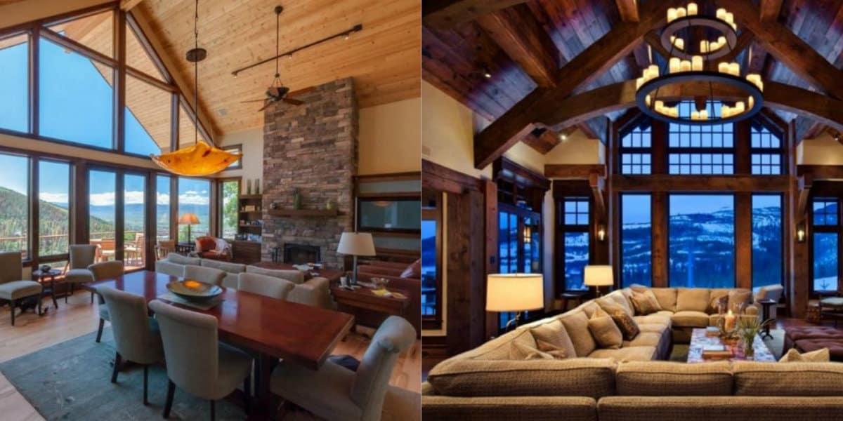 Интерьер в стиле Кантри : альпийская гостиная