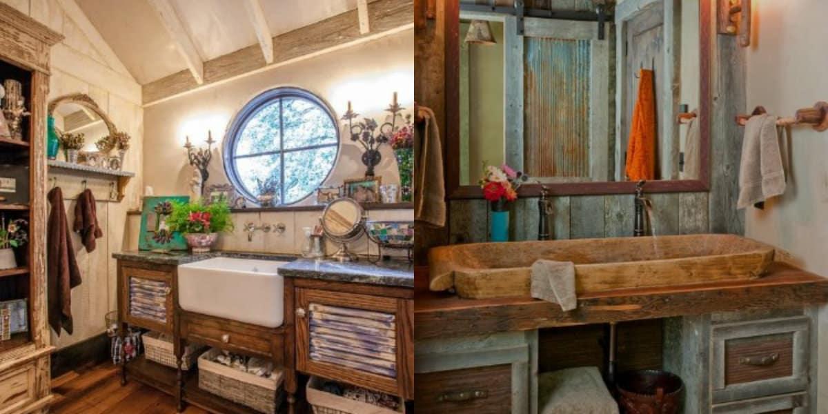 Мебель в стиле Кантри: ванная