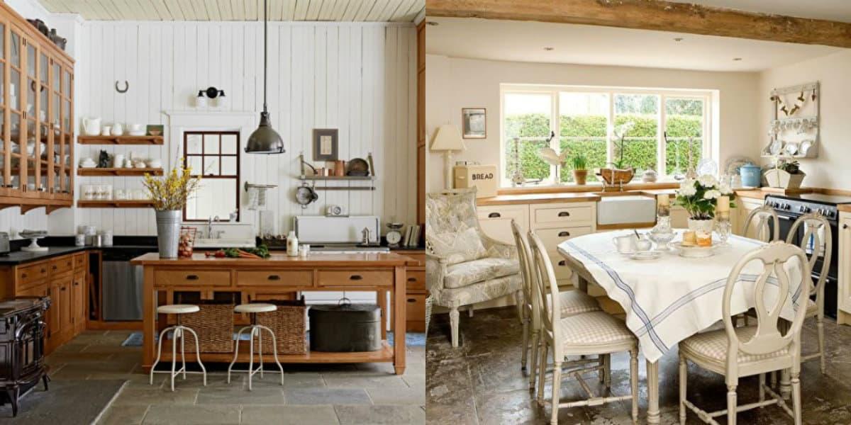 Мебель в стиле Кантри: белая кухня