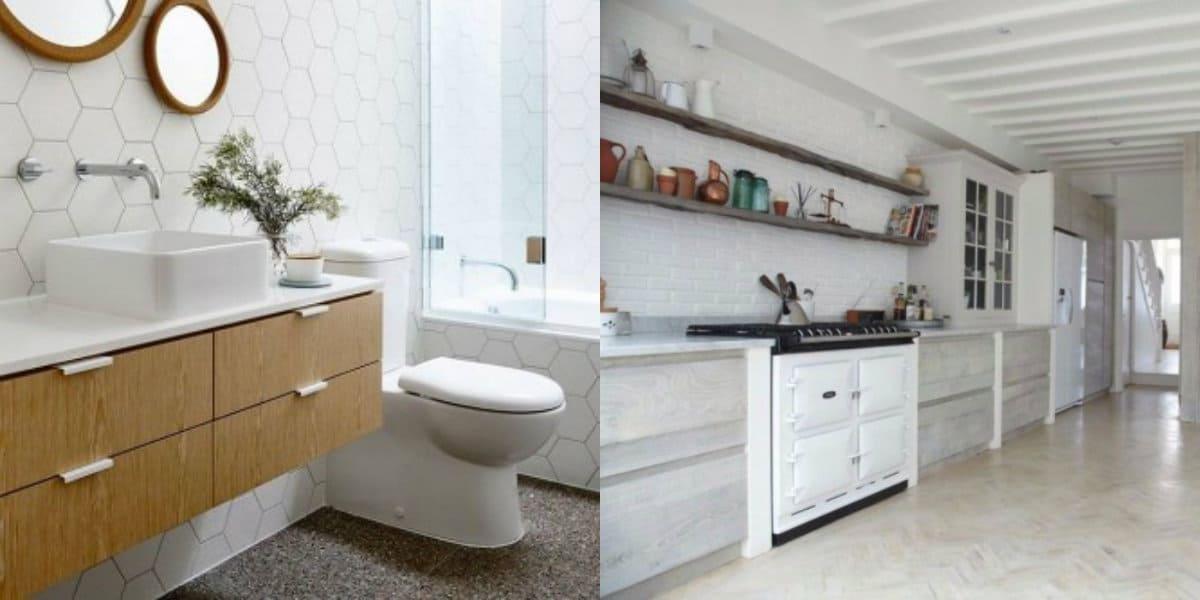 Скандинавский стиль в интерьере : ванная
