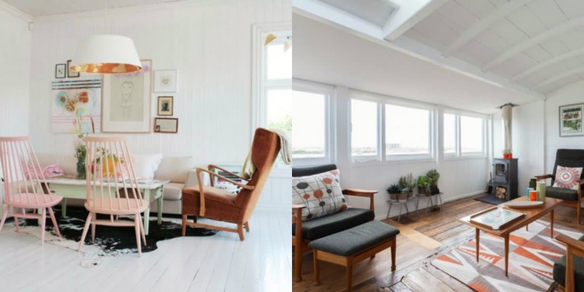 Скандинавский стиль в интерьере : большие окна