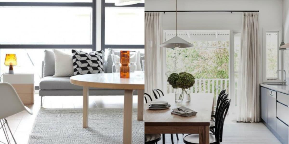 Скандинавский стиль в интерьере : столовая зона