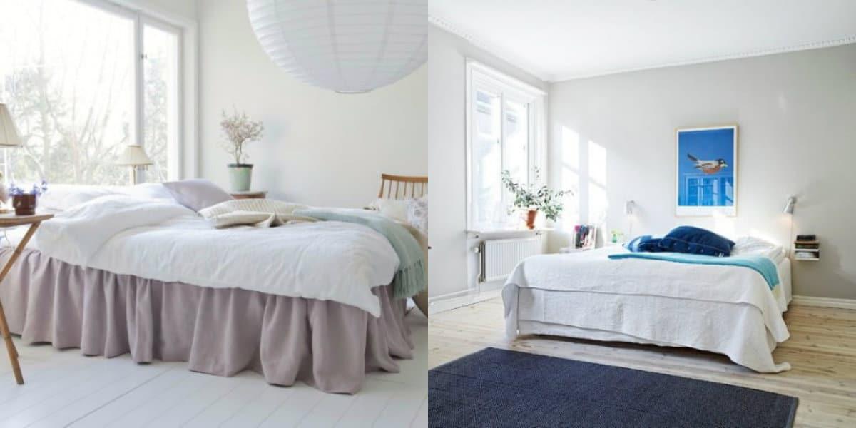 Спальня в скандинавском стиле: колористика