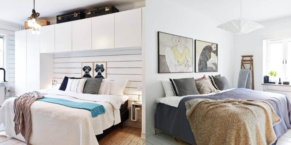 Спальня в скандинавском стиле: декор