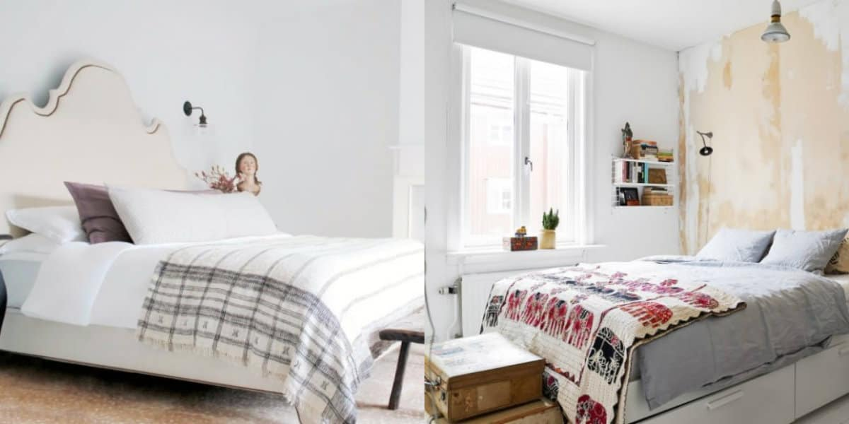 Спальня в скандинавском стиле: текстиль