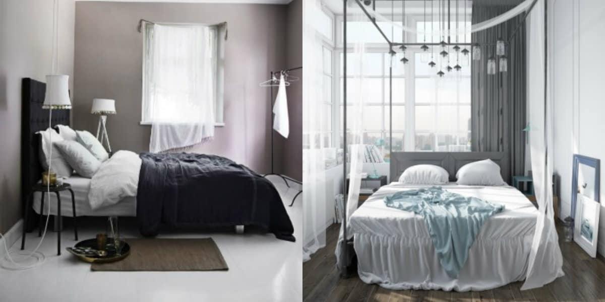 Спальня в скандинавском стиле: кровати