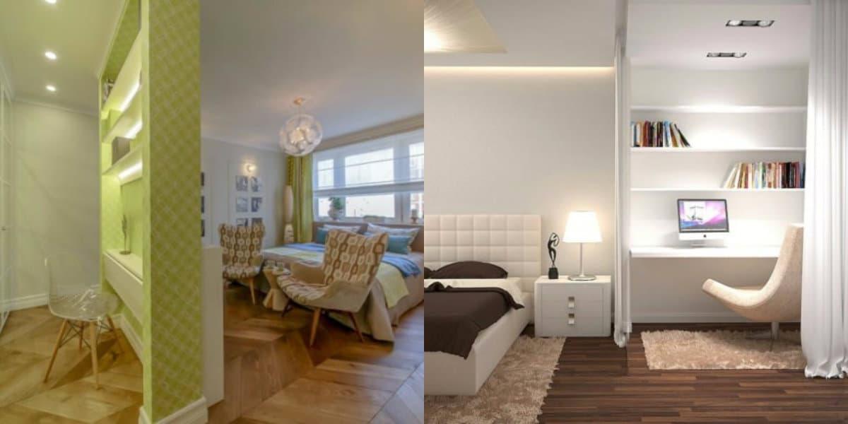 Комната в стиле минимализм: перегородка