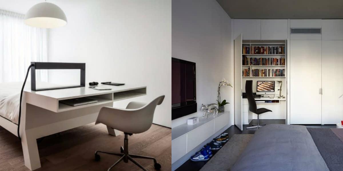Комната в стиле минимализм: оригинальная кровать