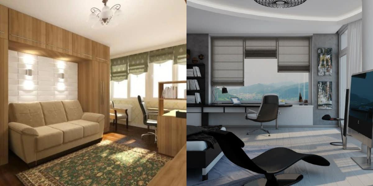 Комната в стиле минимализм: планировка