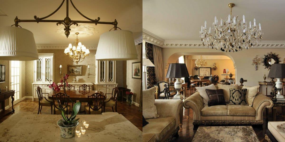 Гостиная в английском стиле: светлая мебель