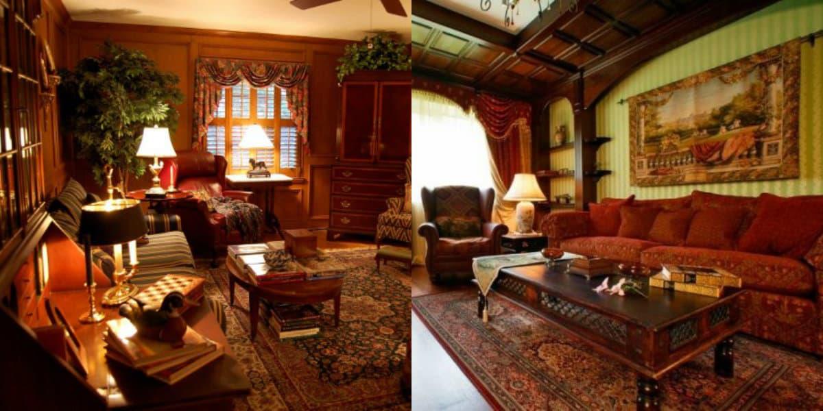 Гостиная в английском стиле: мебель