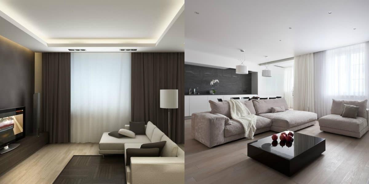 Дизайн квартиры в стиле Минимализм : зона отдыха
