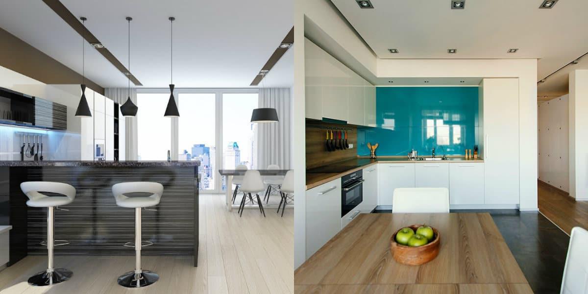 Дизайн квартиры в стиле Минимализм : кухня