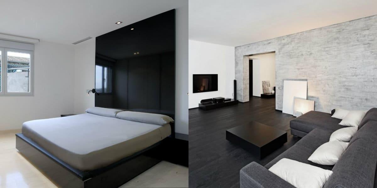 Дизайн квартиры в стиле Минимализм : кровать