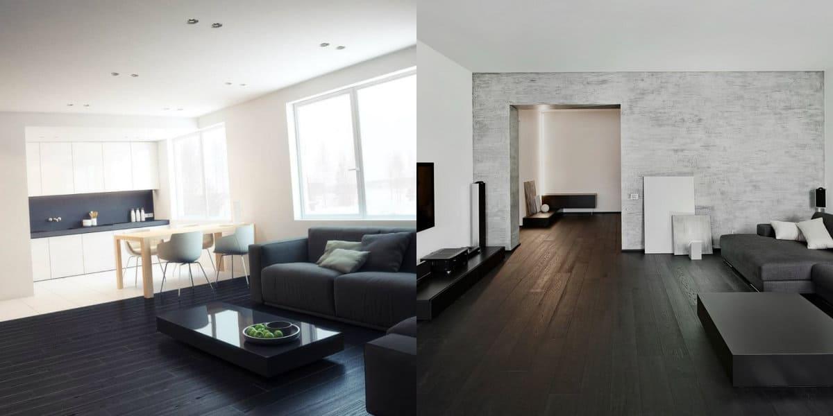 Дизайн квартиры в стиле Минимализм : полы