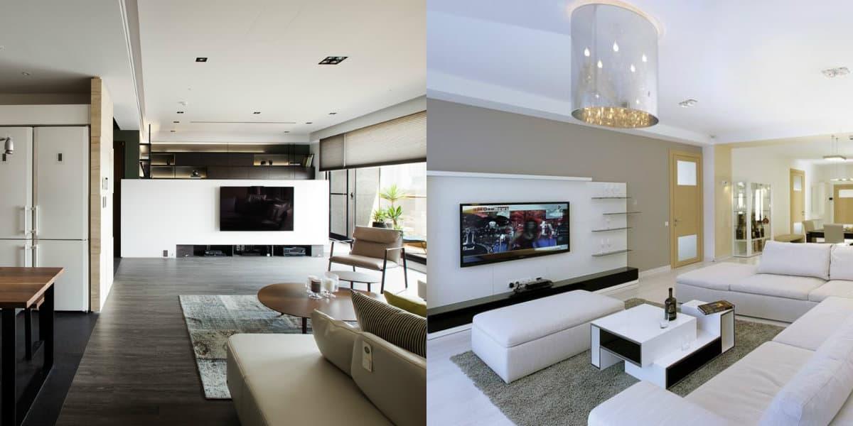 Дизайн квартиры в стиле Минимализм : гостиная