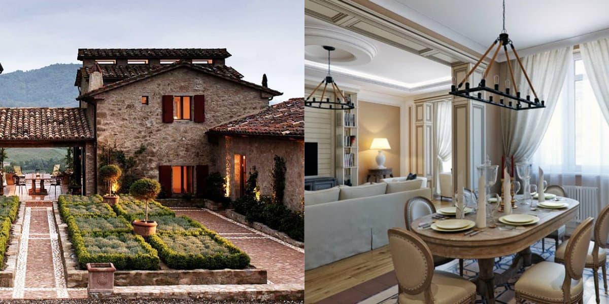 Дом в итальянском стиле: двор