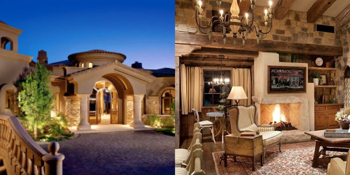 Дом в итальянском стиле: колонны