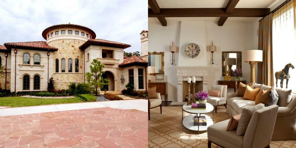 Дом в итальянском стиле: гостиная