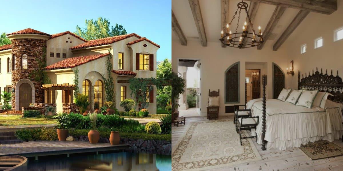 Дом в итальянском стиле: спальня