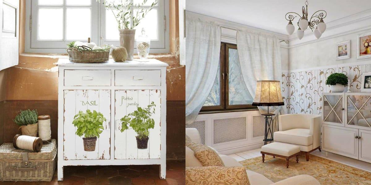 Дом в стиле Прованс: гостиная