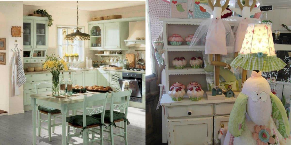 Дом в стиле Прованс: кухня
