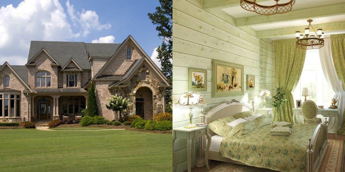 Дом в стиле Прованс: цвет в интерьере