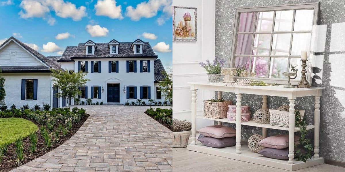 Дом в стиле Прованс: фасад со штукатуркой