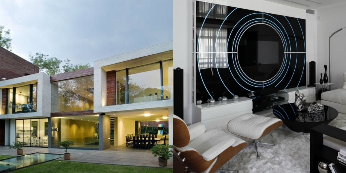 Дом в стиле хай тек: глянцевые поверхности