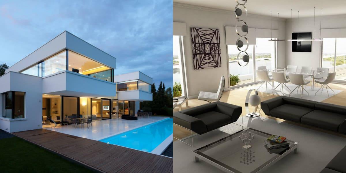 Дом в стиле хай тек: мебель